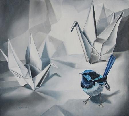 Clare Toms  Siege - 2012  Oil on Canvas  51 x 47 cm