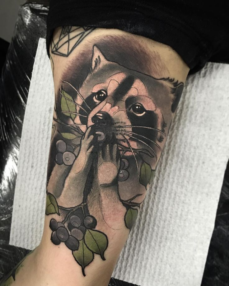 Cute Raccoon Tattoo