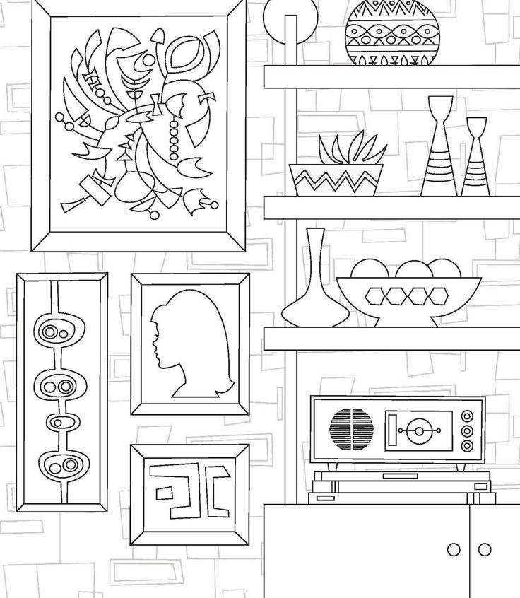 retro art quiet book patterns room art doodle art coloring books colouring pages adult coloring pages animal patterns quiet books - Modern Patterns Coloring Book
