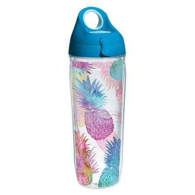 Tervis Tumbler Sun and Surf Watercolor Pineapples Water Bottle 24 oz. Tumbler