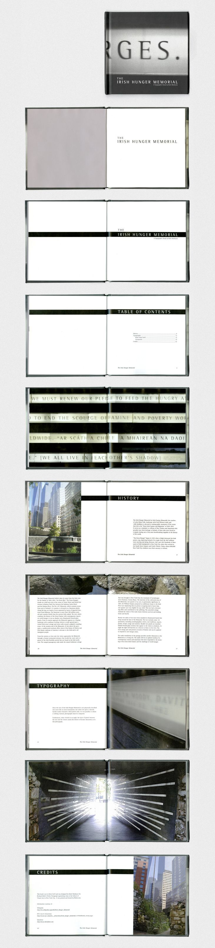 The Irish Hunger Memorial — A 22-page typographic exploration and brief history of the monument that commemorates the Irish Potato Famine in Lower Manhattan.