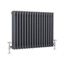 Milano Windsor - Traditional Anthracite 3 Column Radiator 600mm x 765mm (Horizontal)