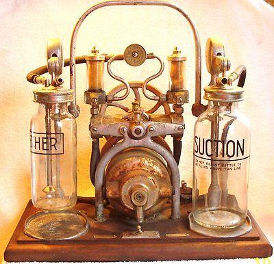 Rare Antique Medical C M Sorensen Anesthesia Embalming Machine w/ Ether Bottle New York, NY, # 460-705. (1920-1930).