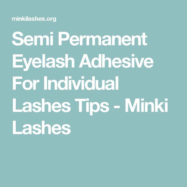 Semi Permanent Eyelash Adhesive For Individual Lashes Tips - Minki Lashes