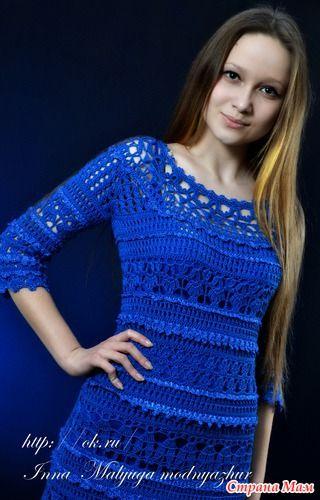 Платье *Оливия* от Ванессы Монторо.. - Вяжем вместе он-лайн - Страна Мам