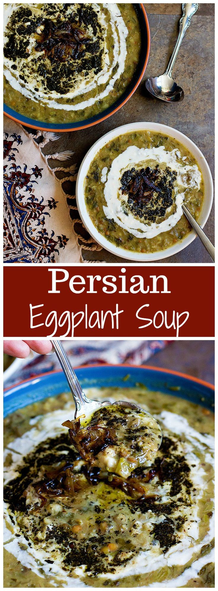 Eggplant Soup | Ash-e Bademjan | Persian Recipes |  Persian Soup |  Persian Food | Winter Soup