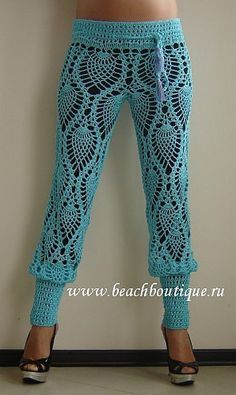 Crochet Leggings - soft and sexy for Summer. Free diagrammatic instructions.