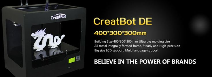 Get Massive prints 400mm x 300mm x 300mm with the creatbot DE