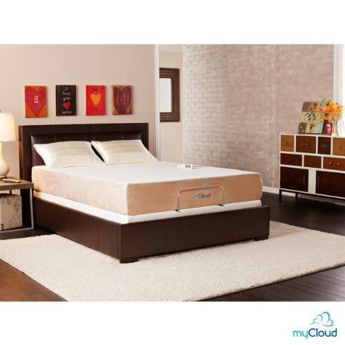 Southern Enterprises myCloud Adjustable Bed Frame, Queen