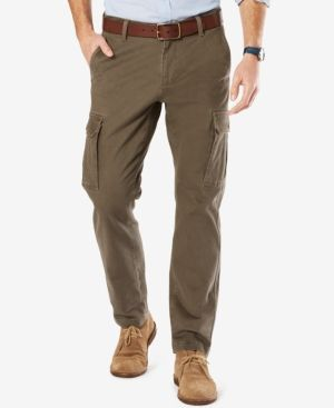 Dockers Athletic Fit Good Cargo Pants - Brown 31x32