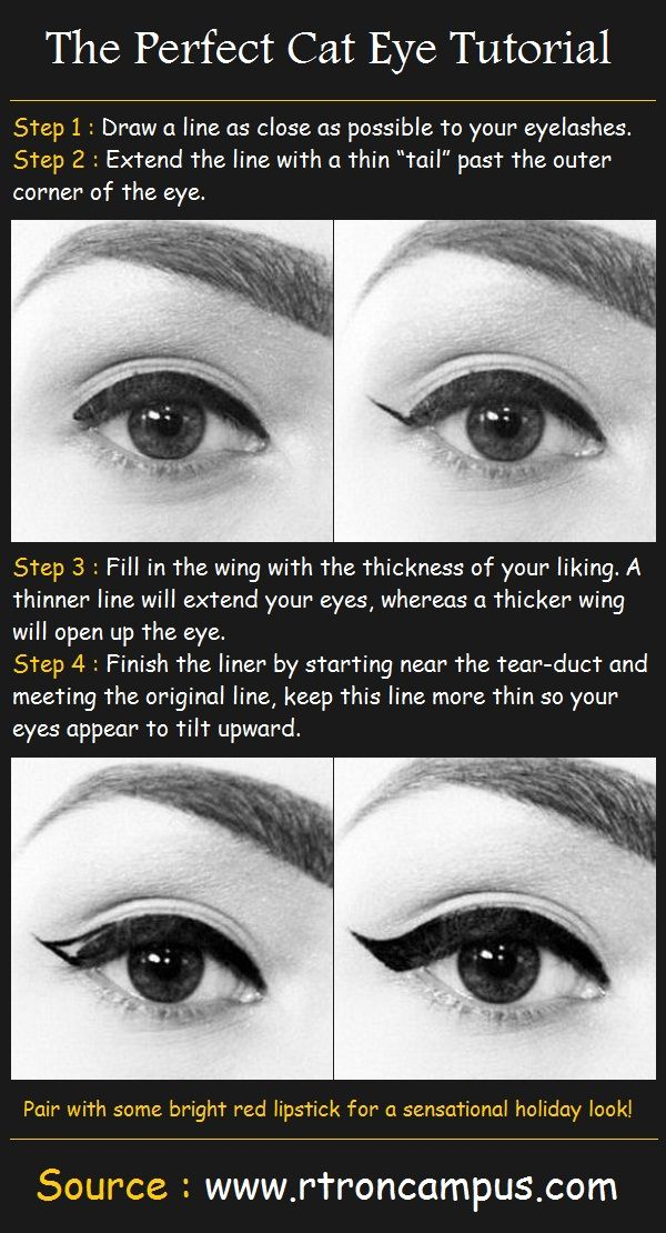 Not clothing, but makeup is just as important to finish a look. How to do a sensual cat eye!