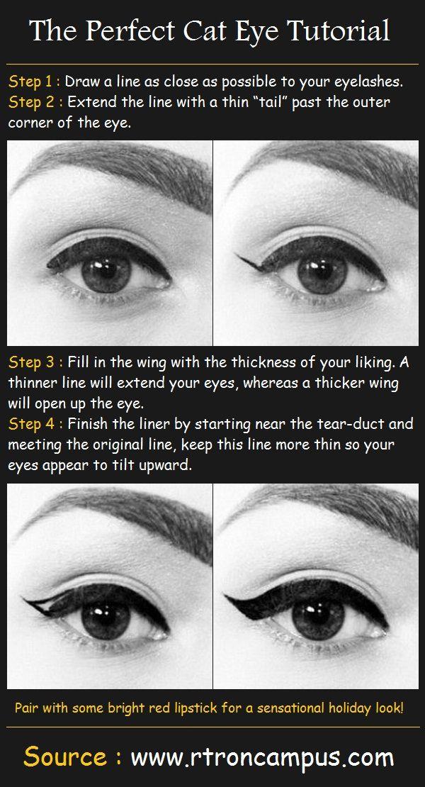 How to do a sensual cat eye!