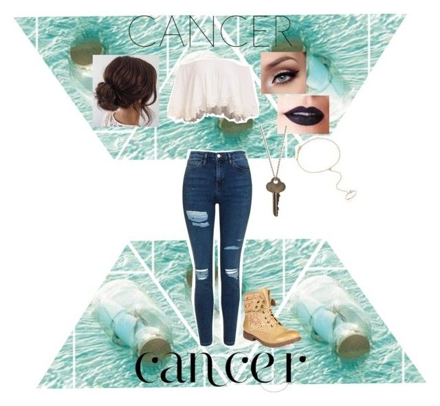 """""""Horoscope Summer Outfit- Cancer"""" by ebeb1233 ❤ liked on Polyvore featuring Topshop, ZiGiny, Lime Crime, The Giving Keys, ZoÃ« Chicco, fashionhoroscope and stylehoroscope"""