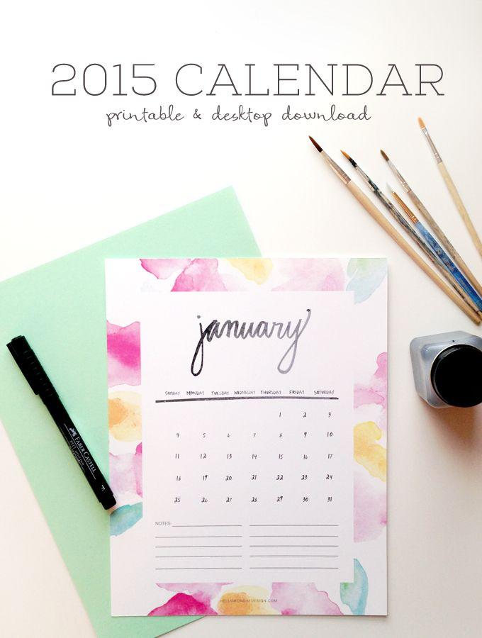 FREE printable 2015 January Calendar | Hello Monday Design