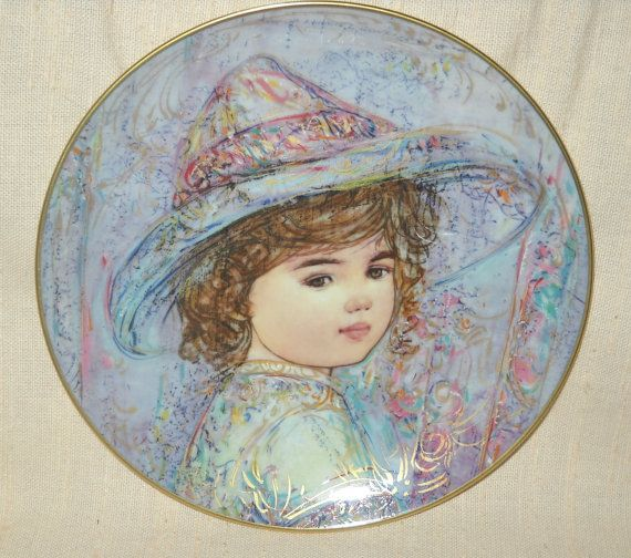 "Edna Hibel Studios ""The World I Love"" Series Collector Plate ""Kaylin"" with Certificate of Authenticity by LovesVintageFinds, $50.00"
