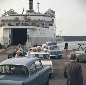 matkustajalaiva Skandia Turun satamassa - Finna