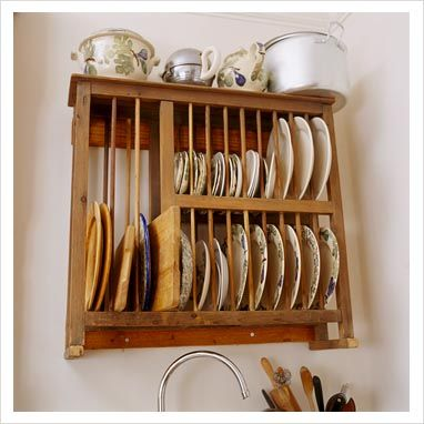 Nice Wooden Plate Rack Wall Mounted