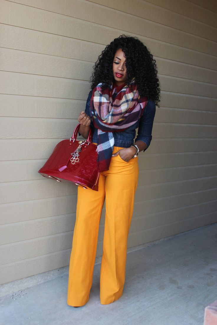 Honey Yellow Wide Leg Trouser Styled