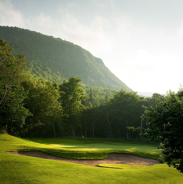 Golfing at the Highlands Links Golf Course in Cape Breton