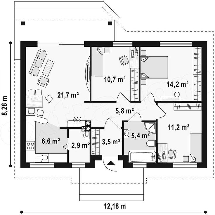 Projekt domu Z7 81,97 m2 | extradom