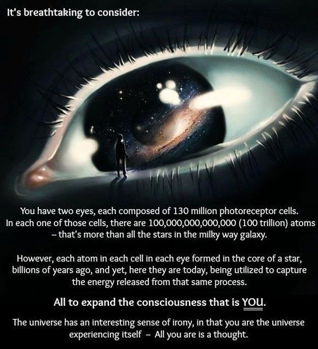 "35 Astounding And Uplifting Facts About The Universe J.J. - We are thinking & all of us are expanding systems of thoughts rather than just a ""thought ""? !"
