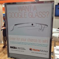 Yes, we gave away a Google Glass at #KBIS2014