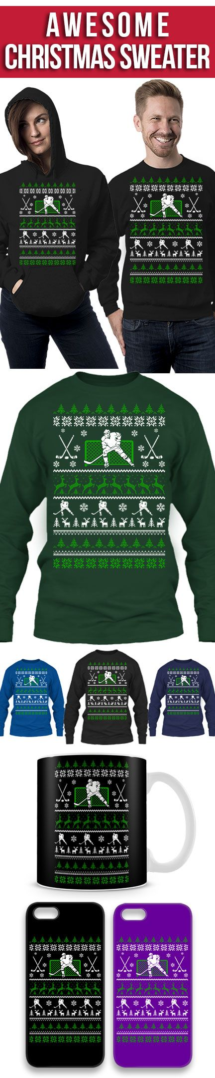 Hockey Ugly Christmas Sweater! Click The Image To Buy It Now or Tag Someone You Want To Buy This For. #hockey