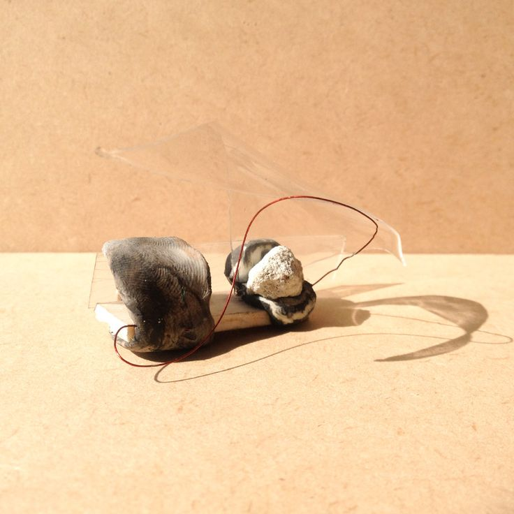 exercise five / model M: transparency film, balsa wood, brown paper and wire