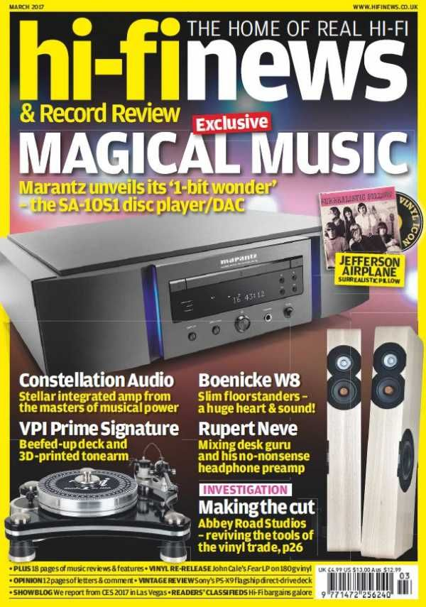 Hi-Fi News - March 2017 English | 140 pages | True PDF | 24 MB Every issue, Hi-Fi News delivers uniquely in-depth reviews of high-end audio equipment, inc