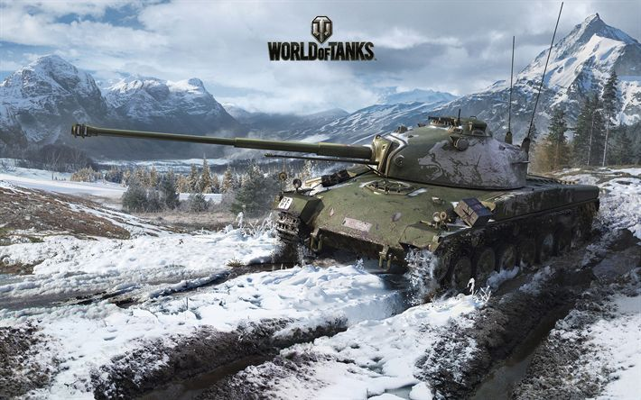 Download wallpapers World of Tanks, tank fighting online, new games, winter, mountains, World War II