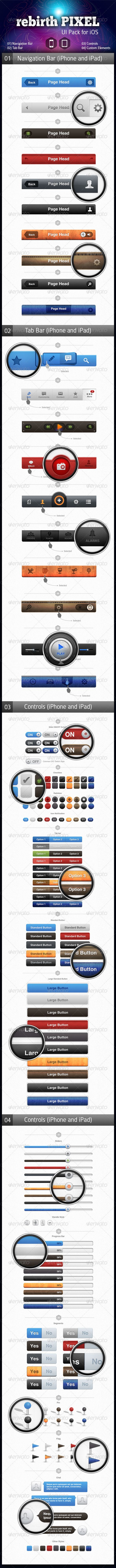 UI Pack for iOS by rebirthPIXEL - User Interfaces Web Elements