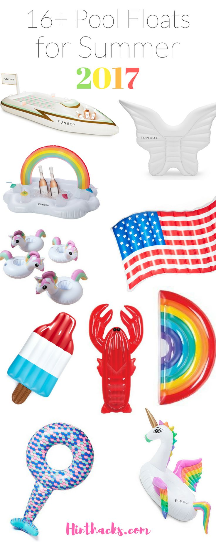 16 Pool Floats for adults   Teen Pool Floats   Summer Party decor   Unicorn Float   4th July Floats   pool float storage   Pool Float games   Cute Floats   Giant Floats   pool floats 2017