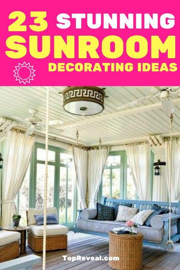 23 Stunning Sunroom Decorating Ideas Sunroom Decorating Sunroom