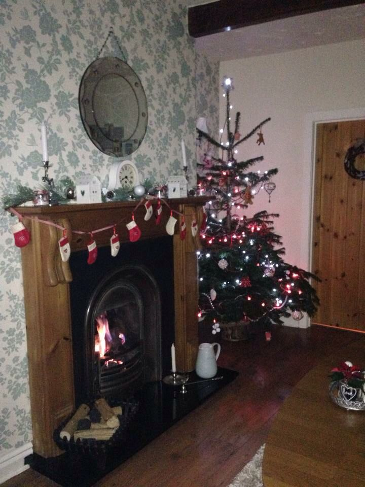 Traditional Christmas cottage