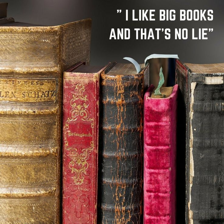 """""""I like big books, and that's no lie""""   (Inspired by Sir Mix-a-lot's """"I like big butts"""")"""