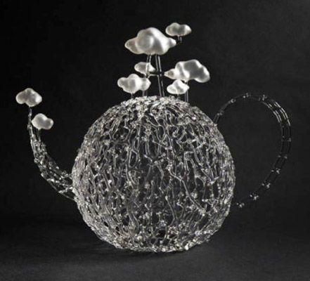 """Eunsuh Choi  Conscious Pot      flameworked glass    14"""" x 17"""" x 9"""""""