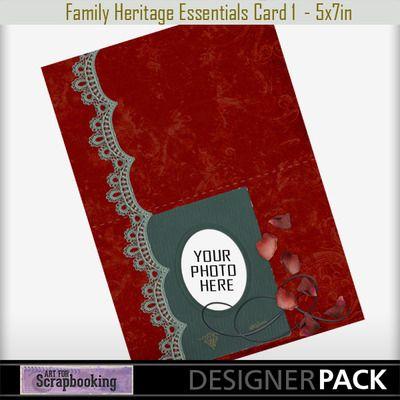 Family Heritage Card 1  #ArtForScrapbooking.com #MyMemories.com #digital #scrapbooking #AFS_sharon