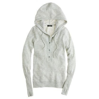 J.Crew Collection cashmere getaway hoodie.
