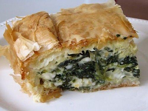 Spanakopita, una receta griega con espinacas