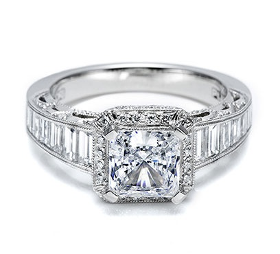 I heart this ring from TACORI! Style no: HT2531PR12 so prettyCut Diamonds, Bring Bling, Ideas, Baguette Engagement Rings, Diamonds Rings, Dreams Engagement Rings, Dreams Rings, Princesses Cut, Princess Cut