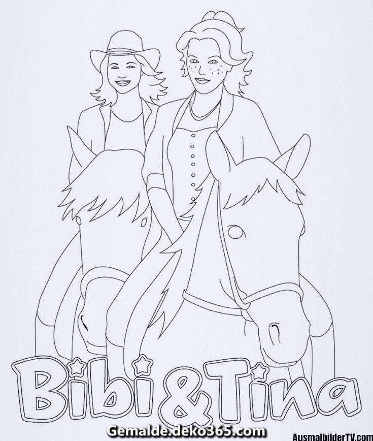 ausmalbilder bibi und tina der film  tiffanylovesbooks
