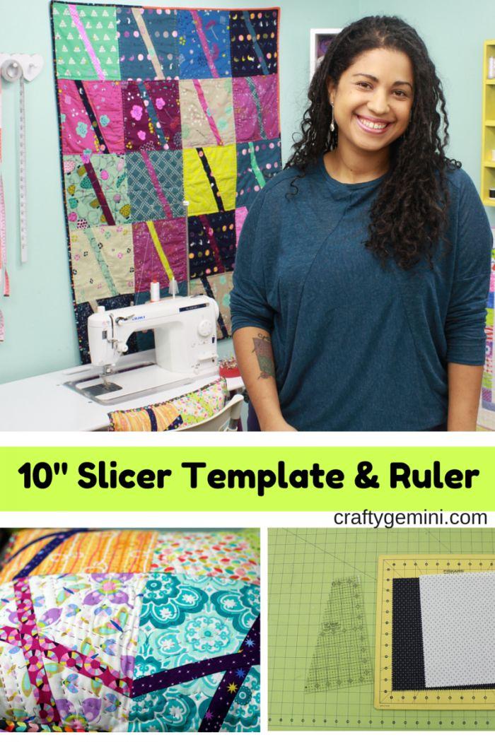 The first Crafty Gemini quilting template \u0026 ruler- 10\