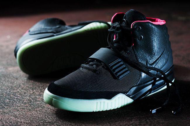 Nike Air Yeezy 2 | Black / Solar Red