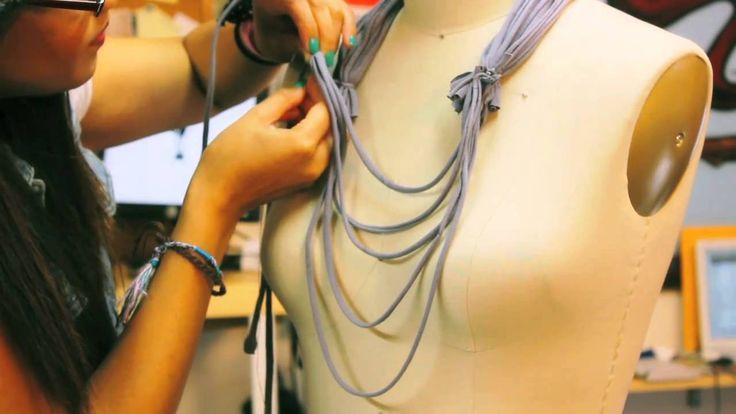 DIY Deconstruct - How To Make a Rope Scarf/Necklace from a T-shirt