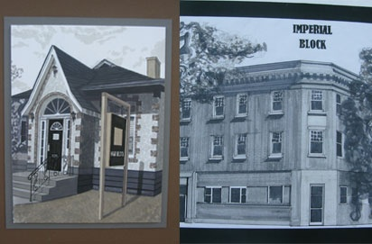 Second year interior design students were challenged to find the shade and shadow of Vermilion. Their renderings of buildings around both campus and the town of Vermilion is on display in the Student Gallery in  Alumni Hall. Fall 2011