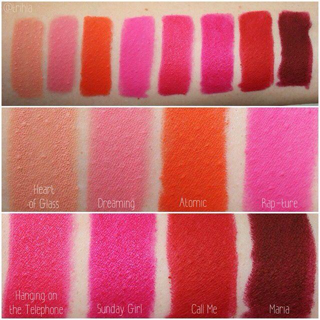 Makeup revolution lipsticks swatches