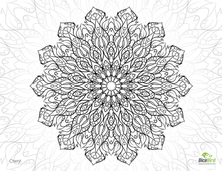 complicated coloring pages flowers - photo#18