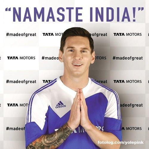 Lionel Messi : Leo em comercial para Tata motors da Índia.  Bjs | yolepink