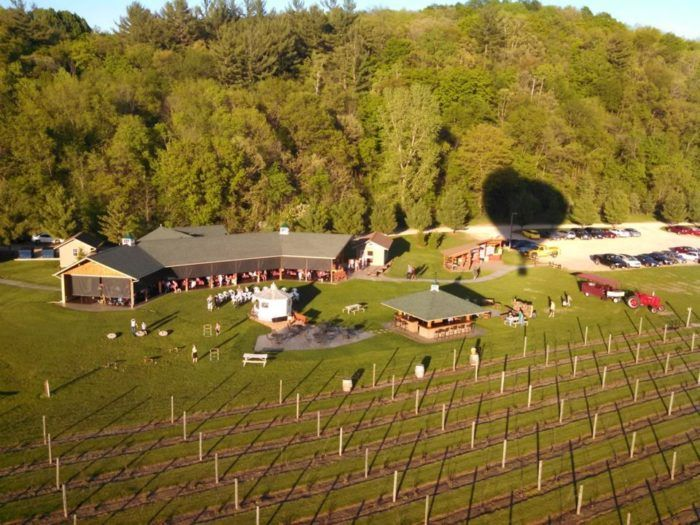You'll love exploring the gorgeous grounds of this vineyard before settling down for a tasty meal.