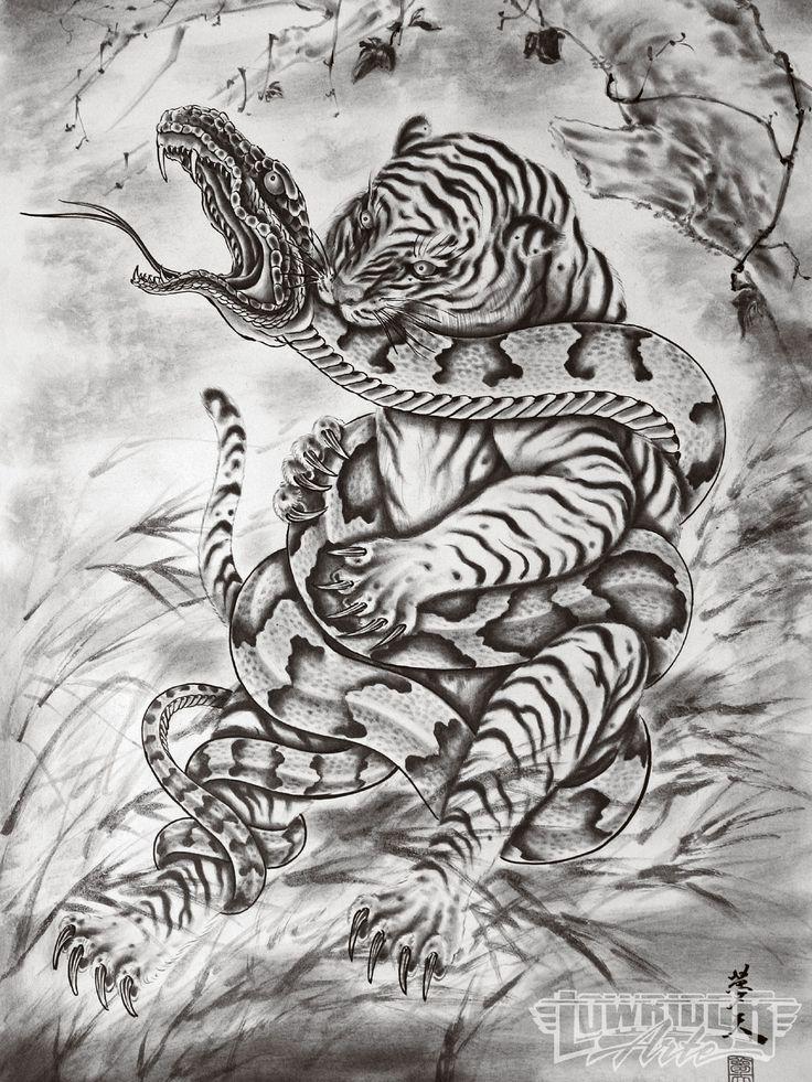 japanese art snake vs tiger | Tattoo Artist Horiyoshi Iii Tiger And Snake Photo 4